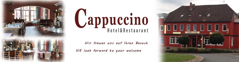 Hotel und Restaurant CappuccinoHotel & Restaurant Cappuccino in Elze bei Hildesheim. Übernachten Sie in modern eingerichteten Zimmern und genießen Sie sehr gute italienische Küche in gemütlich familiärer Atmosphäre.